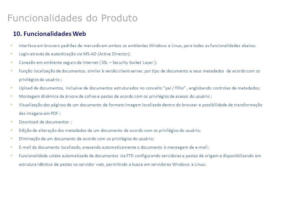 Funcionalidades do Produto
