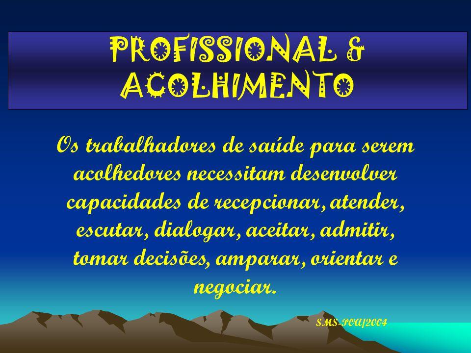 PROFISSIONAL & ACOLHIMENTO