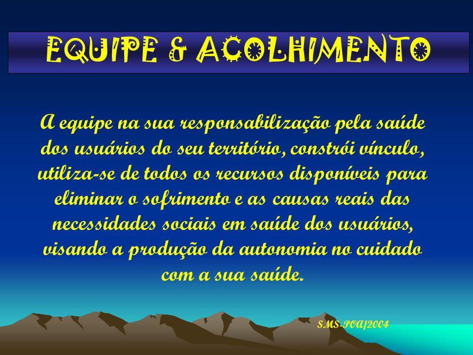 EQUIPE & ACOLHIMENTO