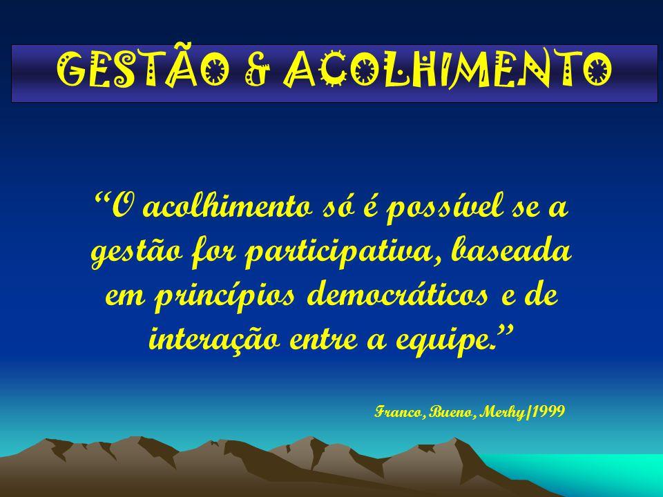 GESTÃO & ACOLHIMENTO