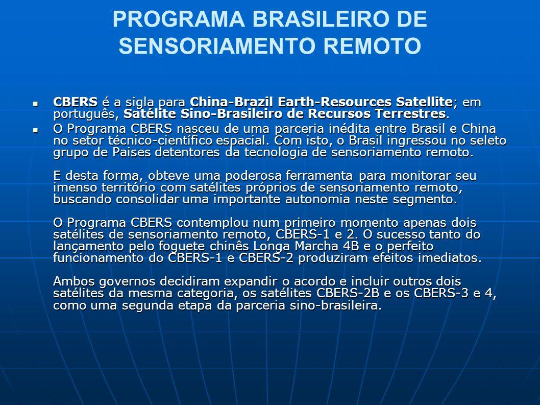 PROGRAMA BRASILEIRO DE SENSORIAMENTO REMOTO