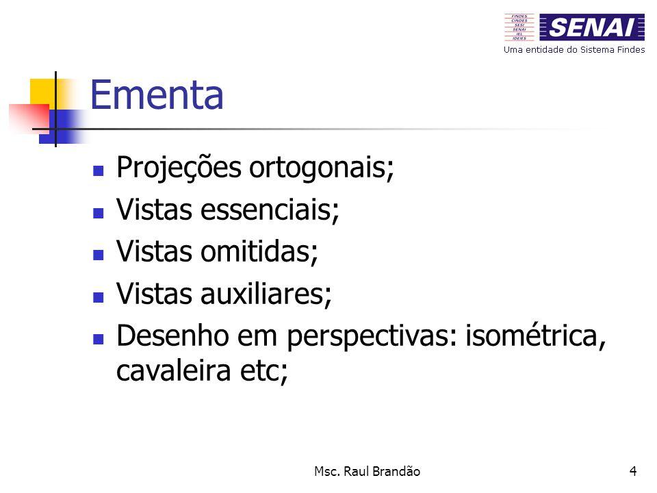Ementa Projeções ortogonais; Vistas essenciais; Vistas omitidas;
