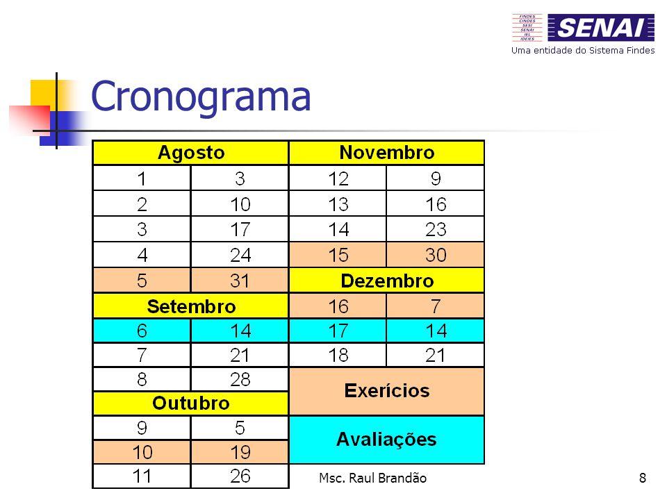 Cronograma Msc. Raul Brandão