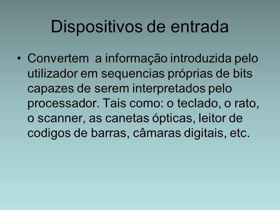 Dispositivos de entrada