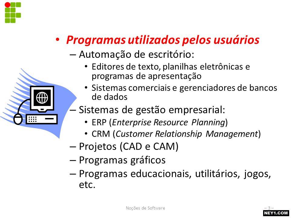 Software básico Programas que fornecem a infra-estrutura para execução dos softwares aplicativos. BIOS (Basic Input/Output System)