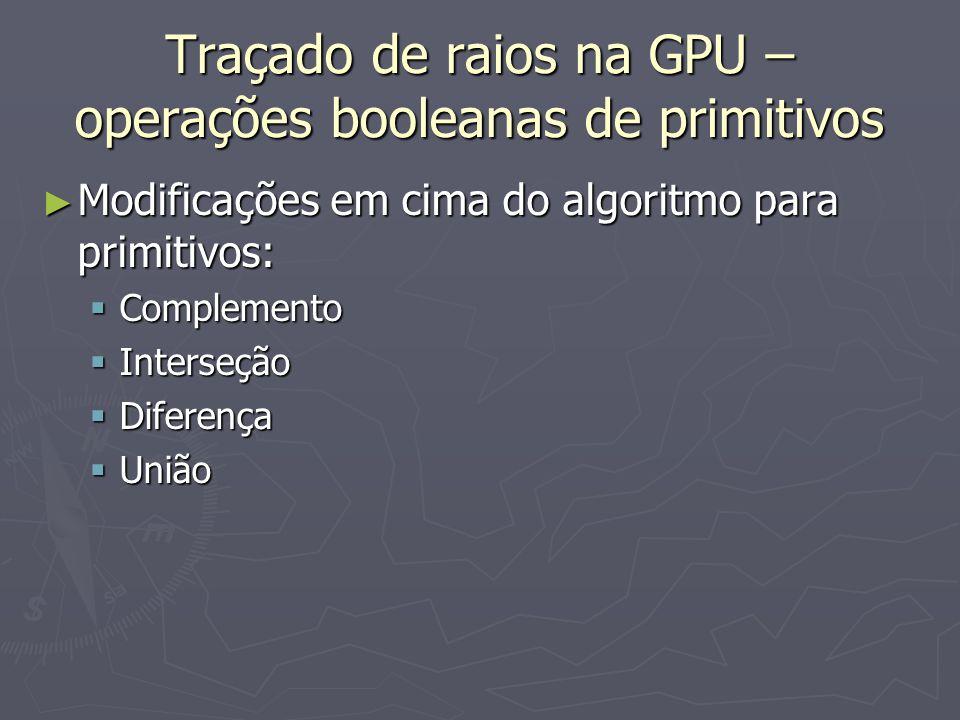 Traçado de raios na GPU – operações booleanas de primitivos