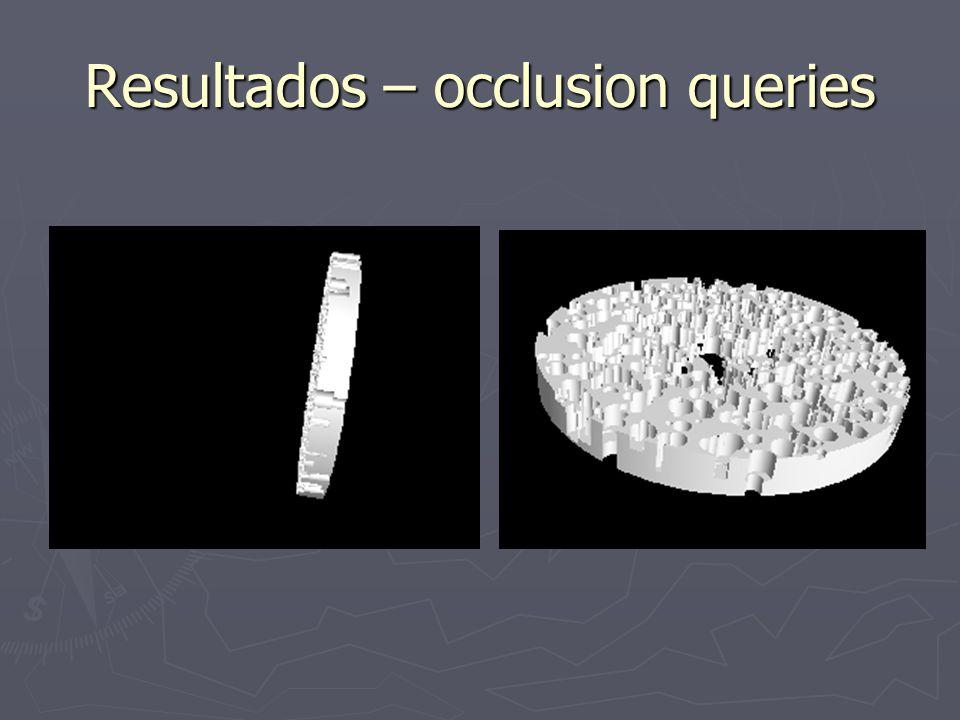 Resultados – occlusion queries