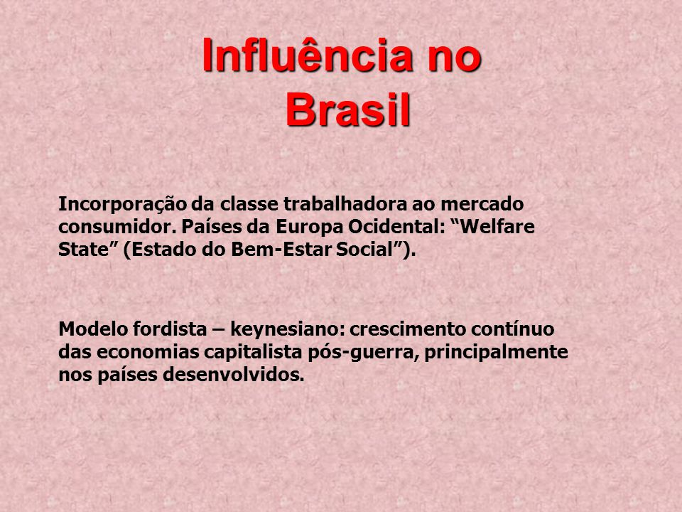 Influência no Brasil.
