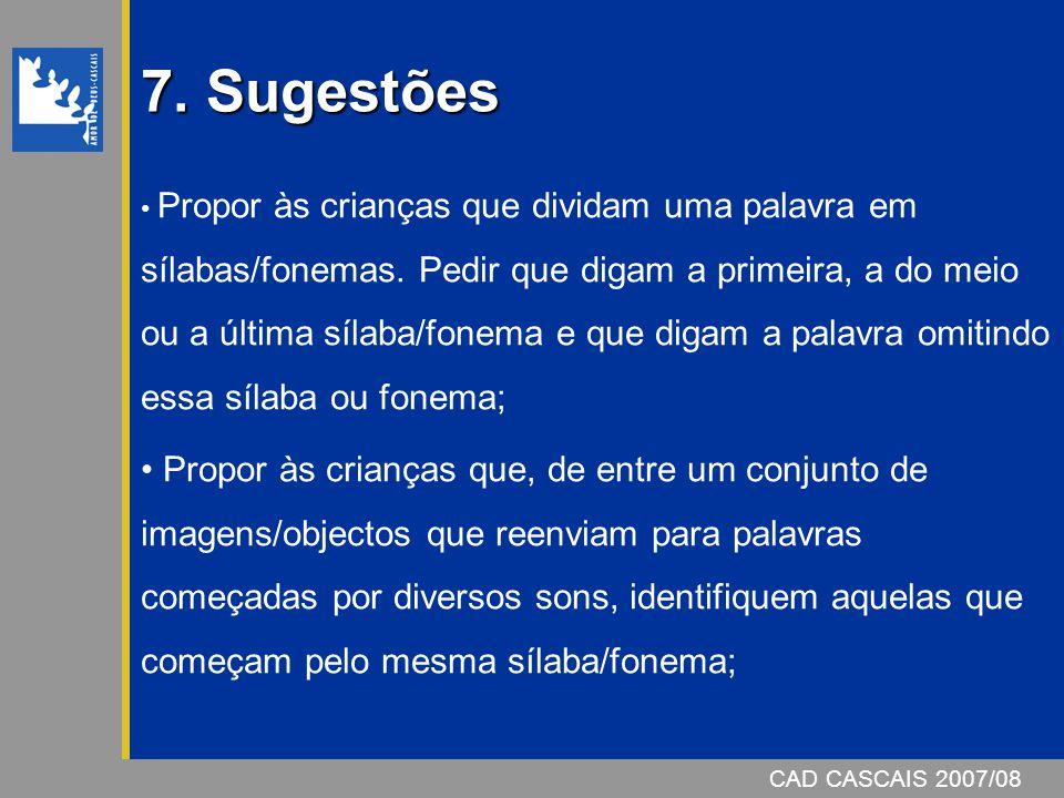7. Sugestões