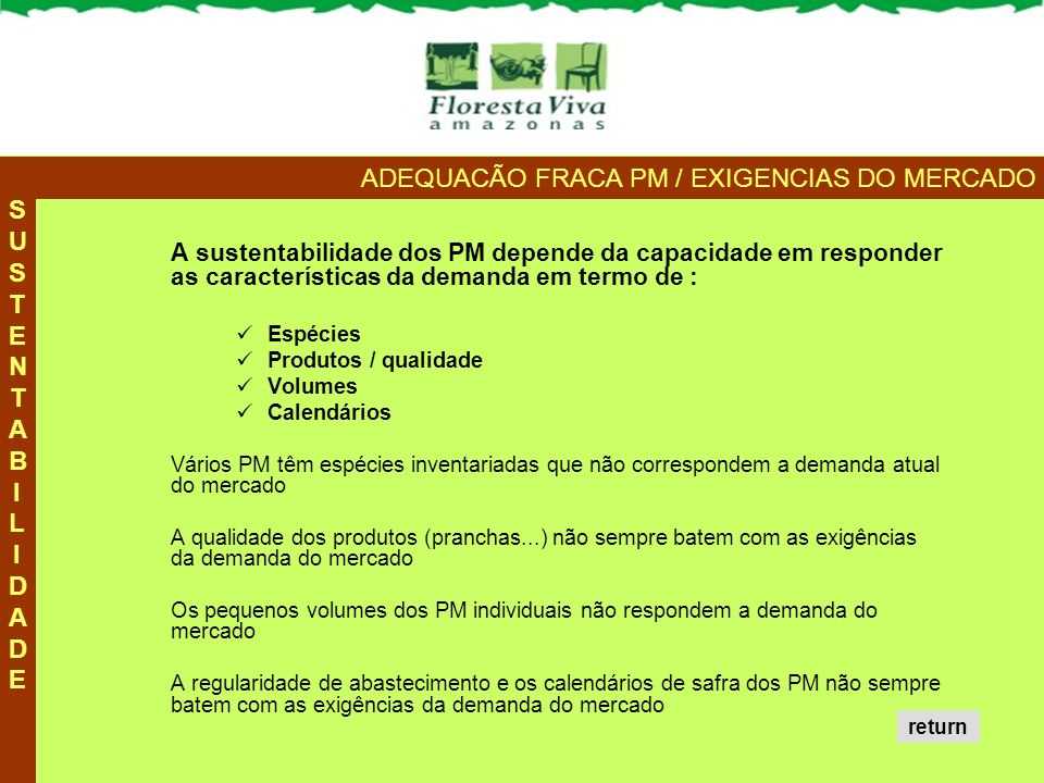 ADEQUACÃO FRACA PM / EXIGENCIAS DO MERCADO