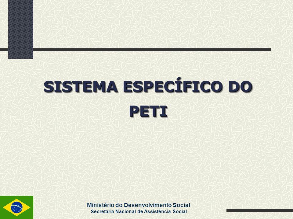 SISTEMA ESPECÍFICO DO PETI