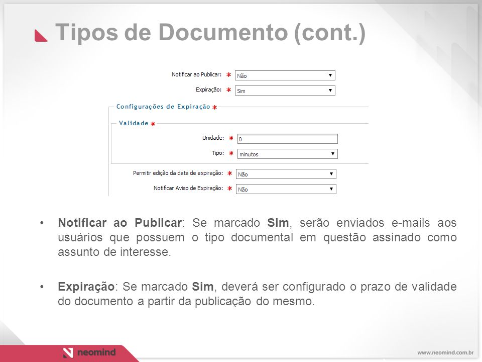 Tipos de Documento (cont.)
