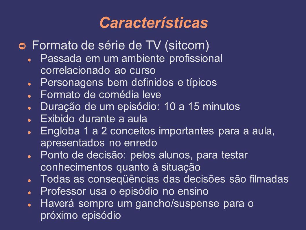 Características Formato de série de TV (sitcom)