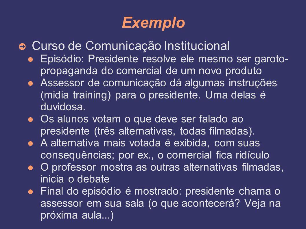 Exemplo Curso de Comunicação Institucional