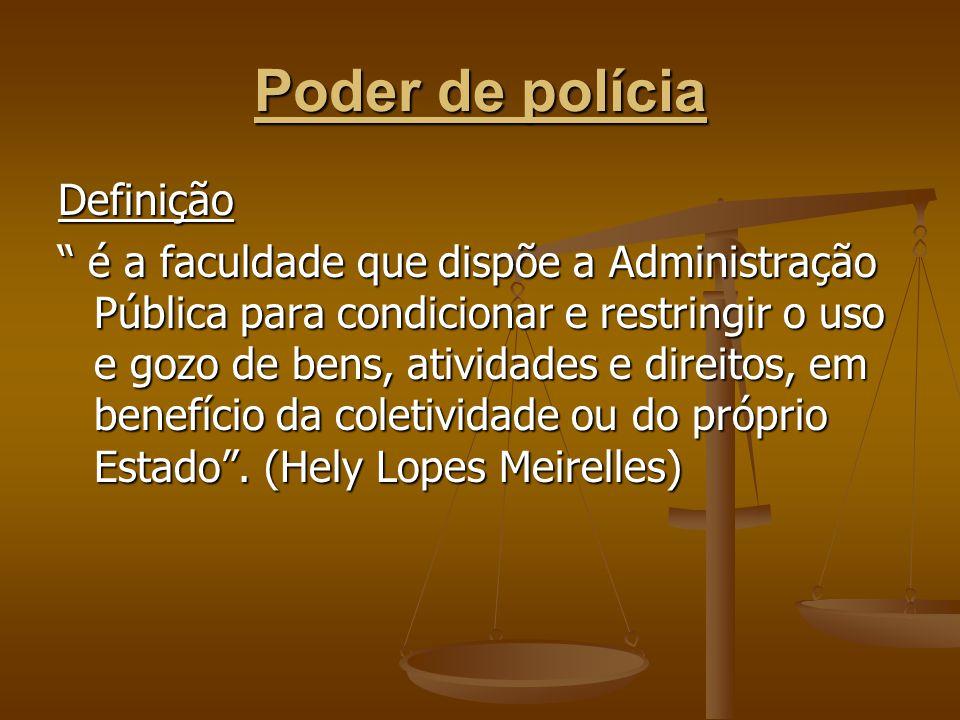 Poder de polícia Definição