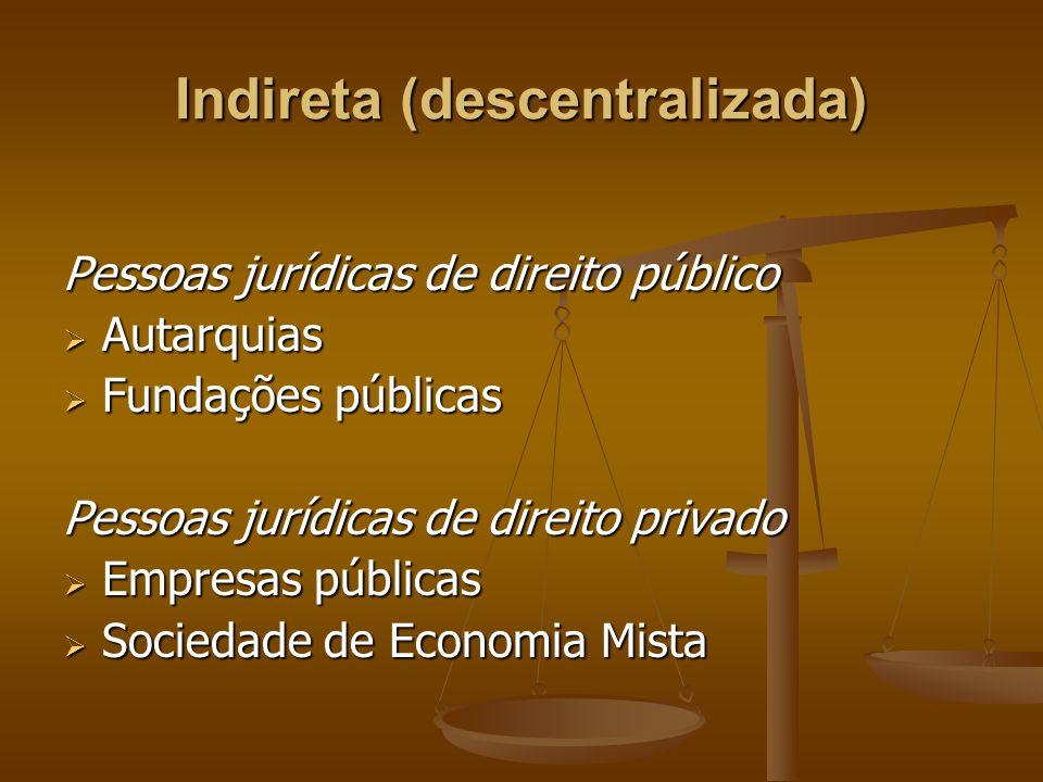 Indireta (descentralizada)