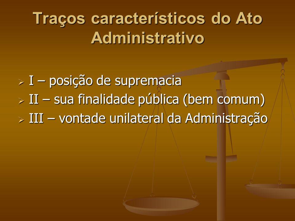 Traços característicos do Ato Administrativo