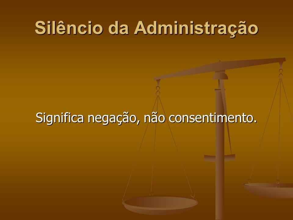 Silêncio da Administração