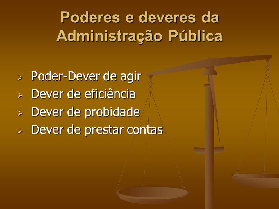 Poderes e deveres da Administração Pública