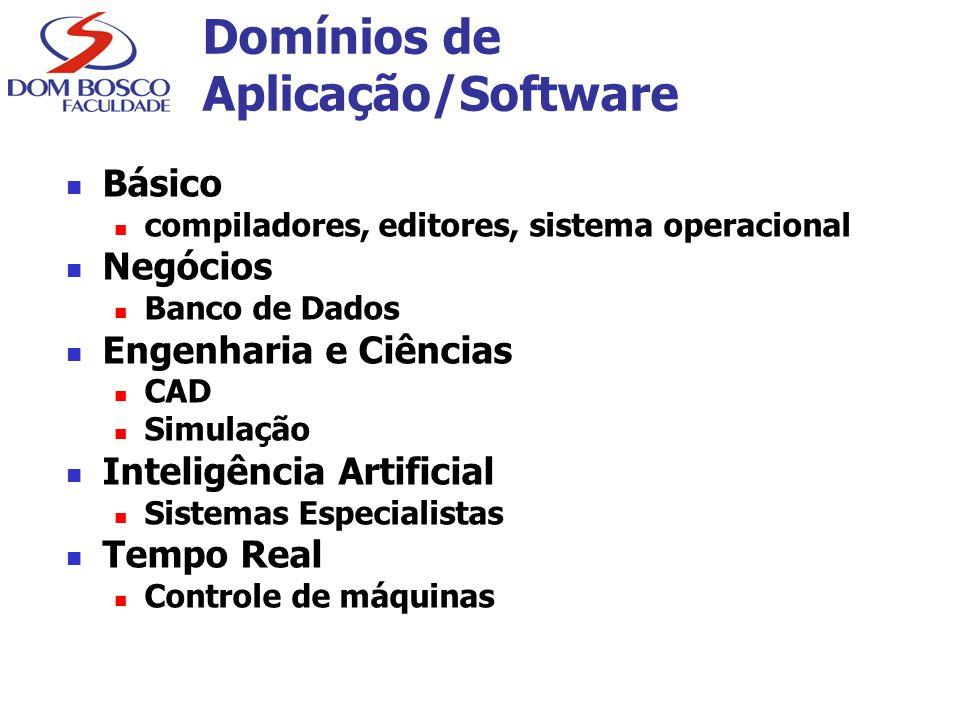 Domínios de Aplicação/Software