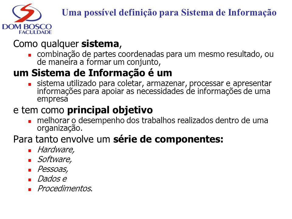 Uma possível definição para Sistema de Informação