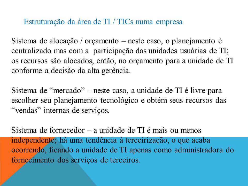 Estruturação da área de TI / TICs numa empresa