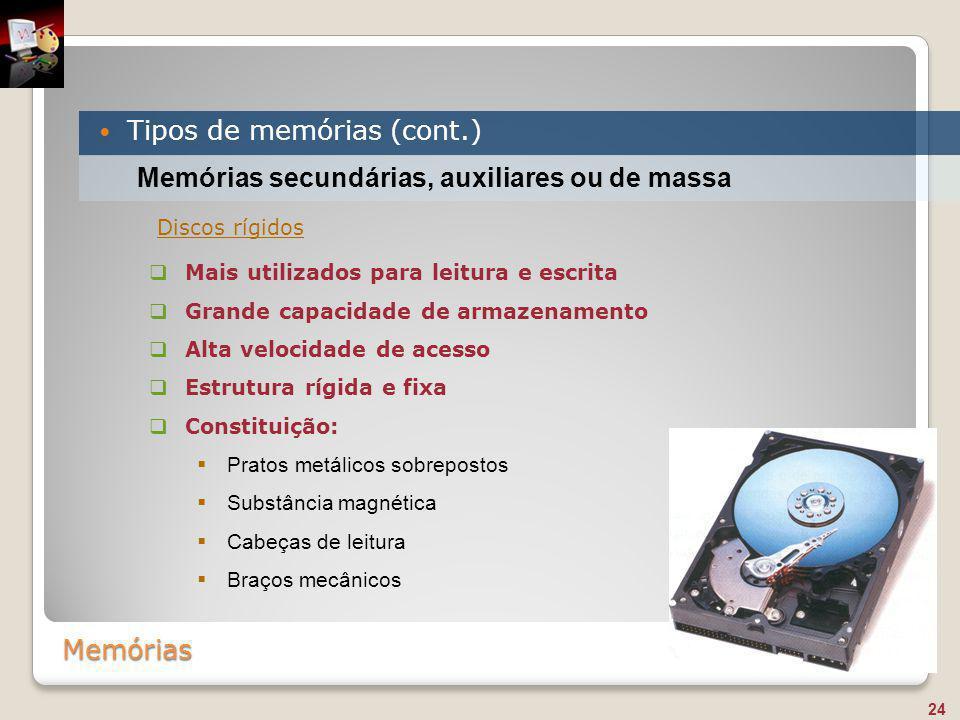 Tipos de memórias (cont.)