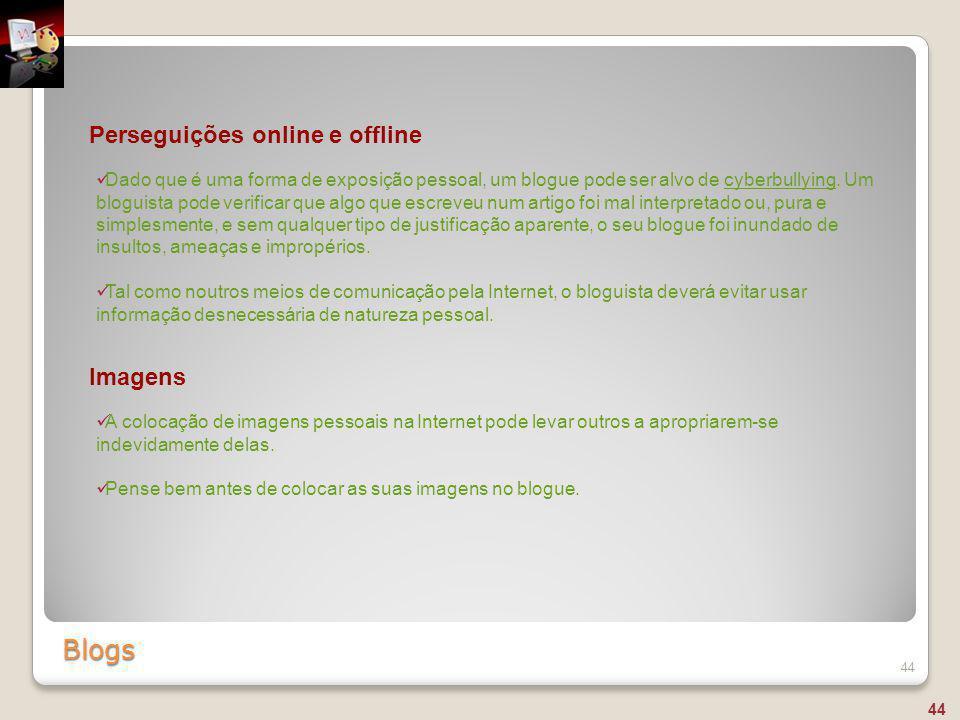 Blogs Perseguições online e offline Imagens