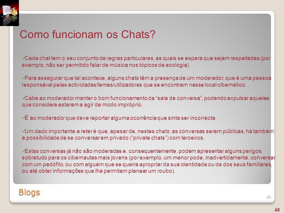 Como funcionam os Chats