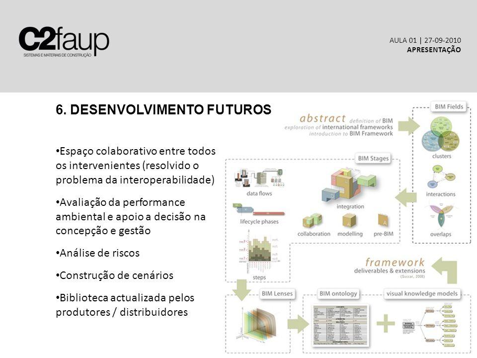 6. DESENVOLVIMENTO FUTUROS