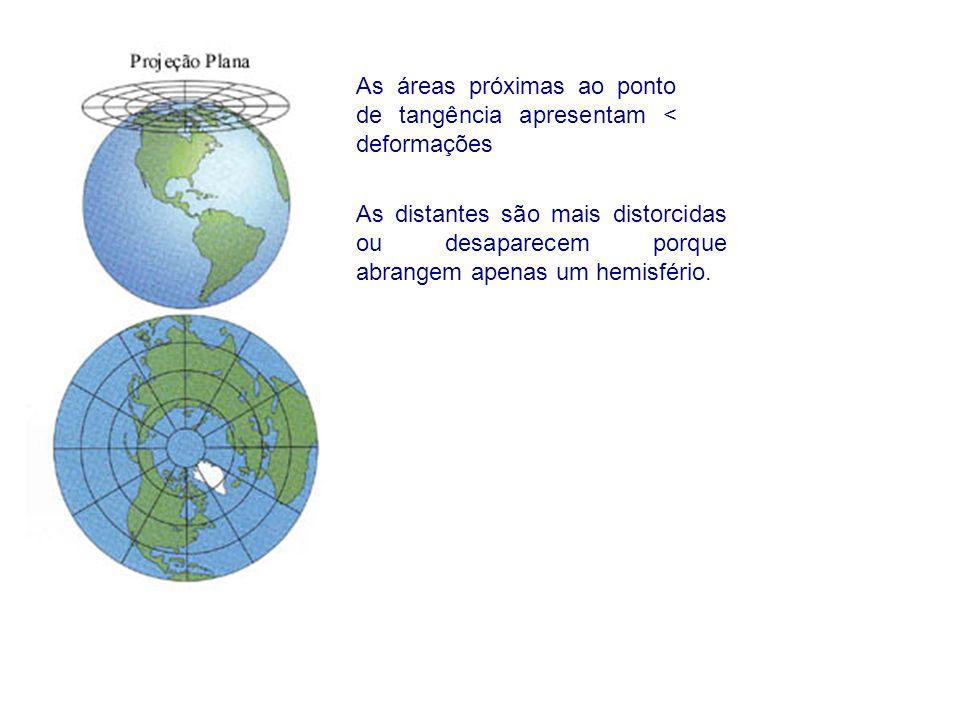 As áreas próximas ao ponto de tangência apresentam < deformações