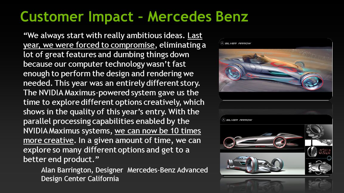 Customer Impact – Mercedes Benz