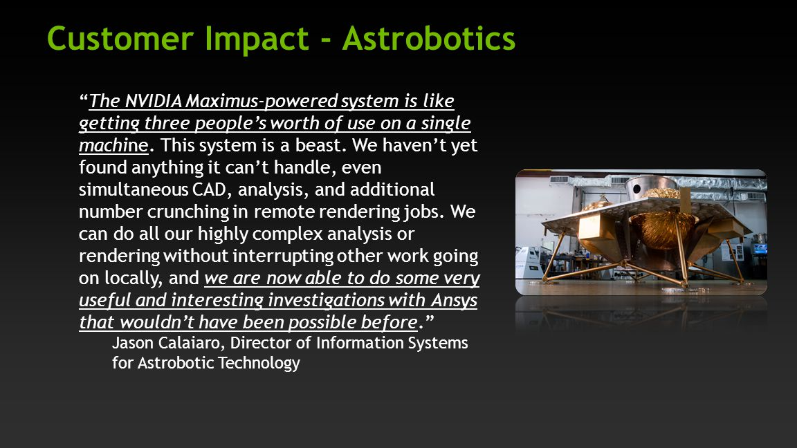 Customer Impact - Astrobotics