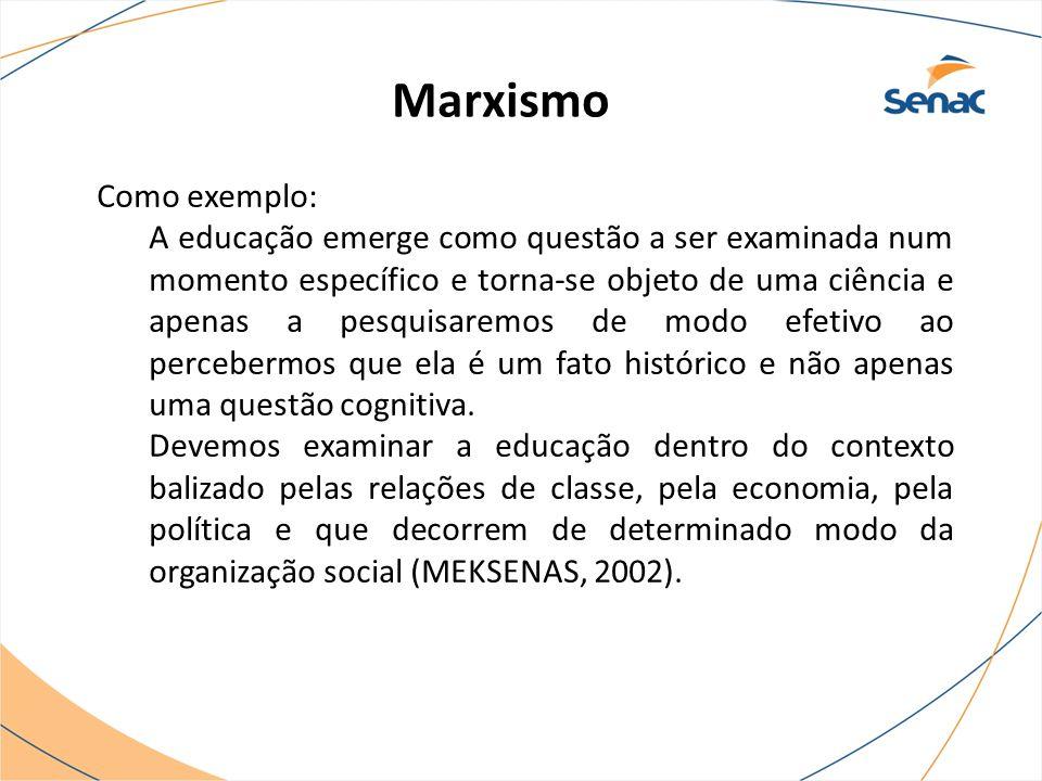 Marxismo Como exemplo: