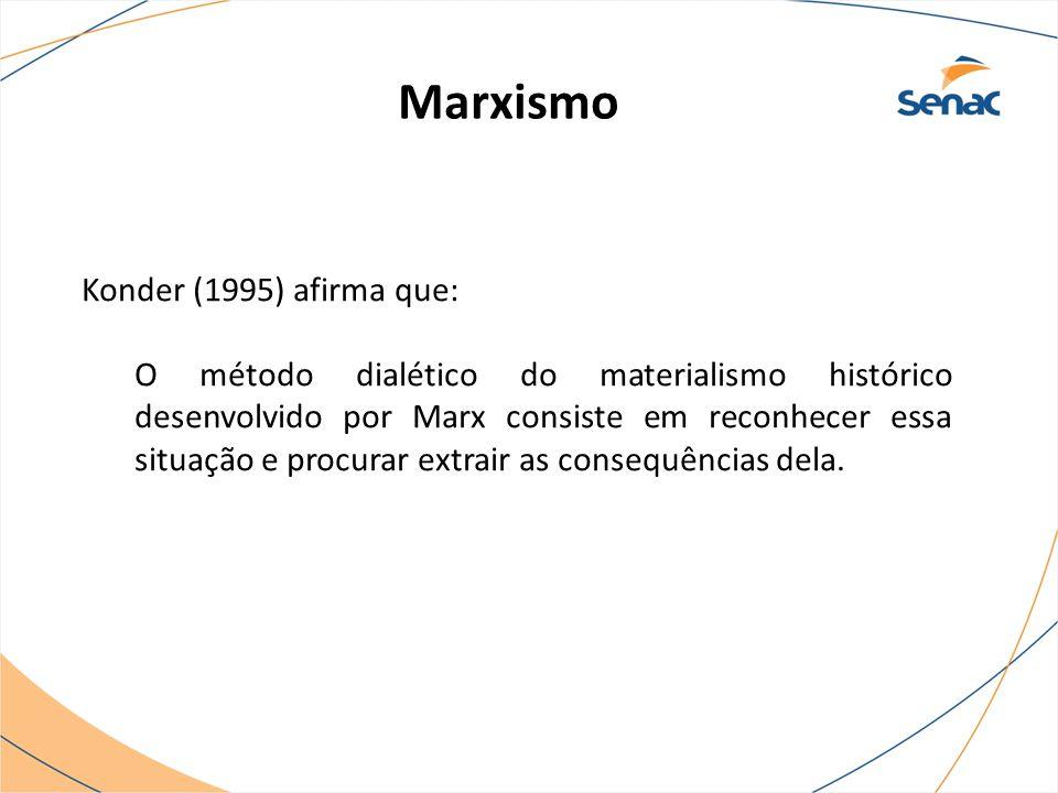 Marxismo Konder (1995) afirma que: