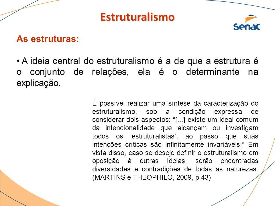 Estruturalismo As estruturas: