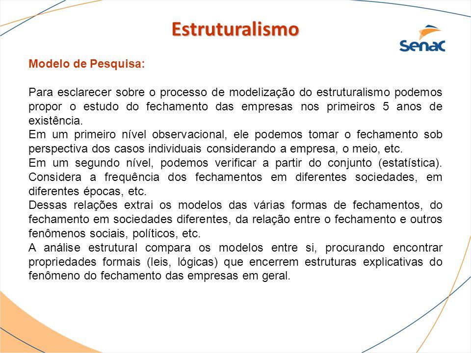 Estruturalismo Modelo de Pesquisa: