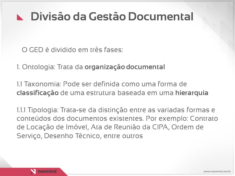 Divisão da Gestão Documental