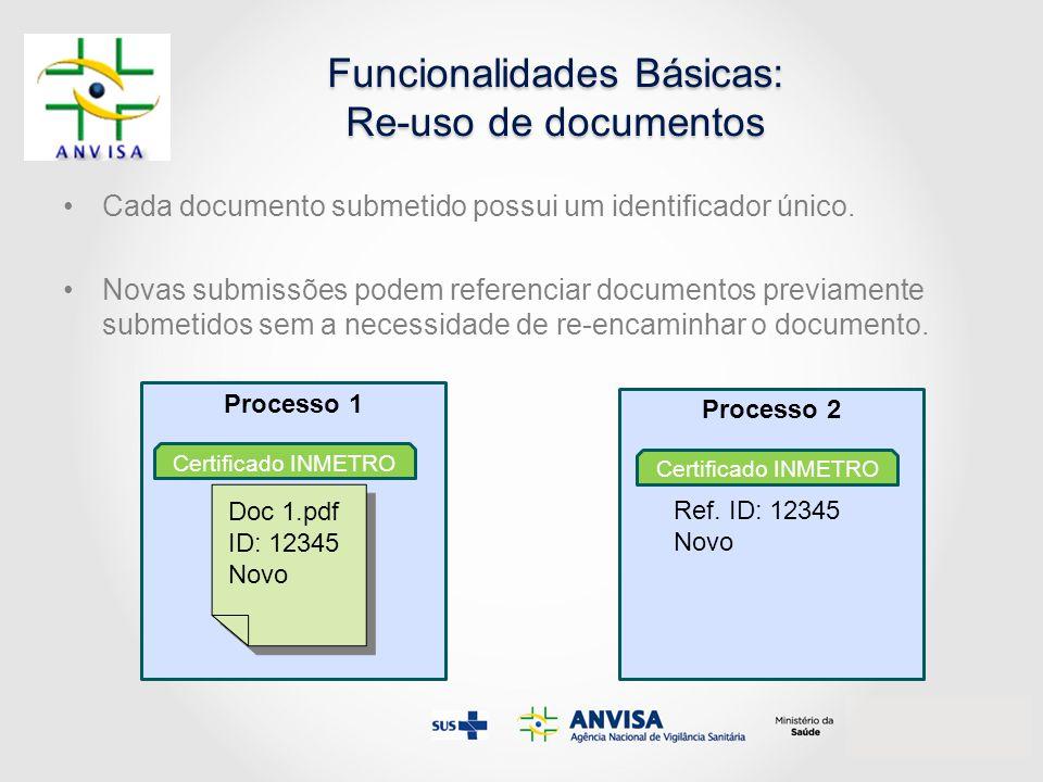 Funcionalidades Básicas: Re-uso de documentos