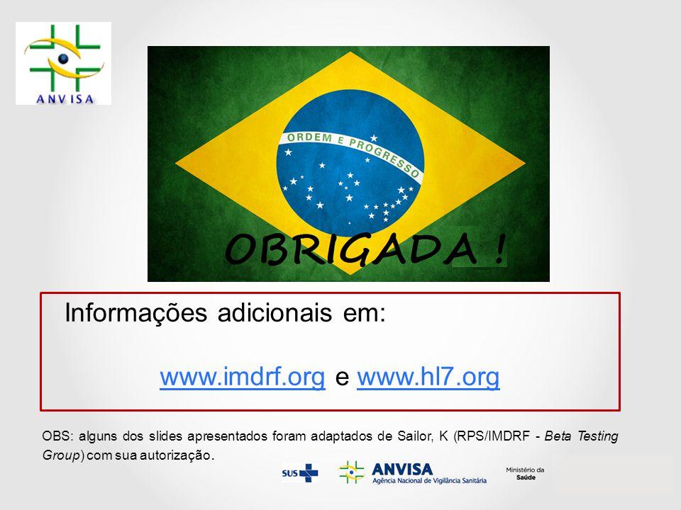 www.imdrf.org e www.hl7.org
