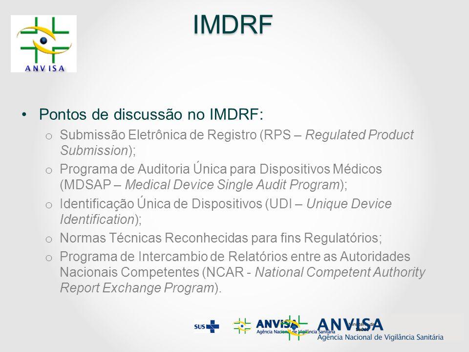 IMDRF Pontos de discussão no IMDRF:
