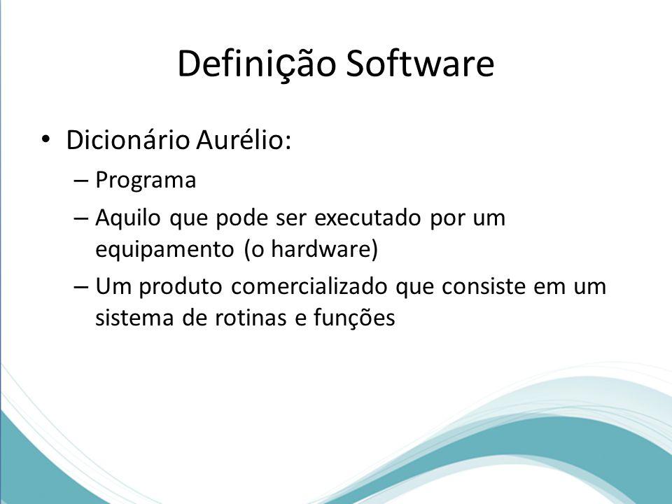 Definição Software Dicionário Aurélio: Programa