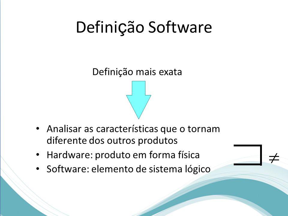  Definição Software Definição mais exata