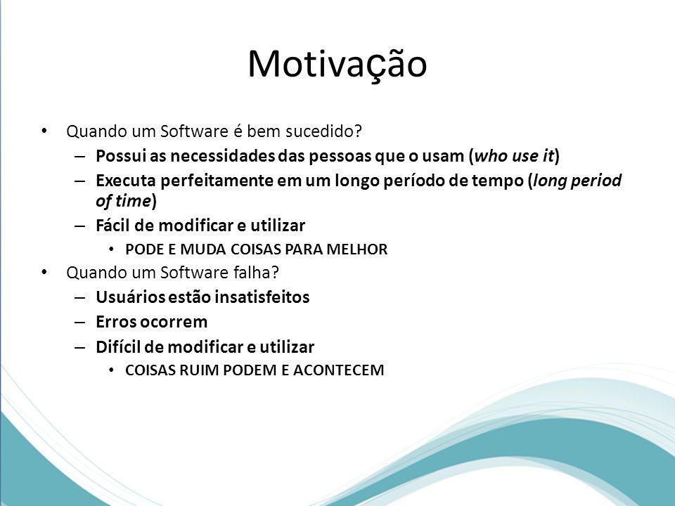 Motivação Quando um Software é bem sucedido