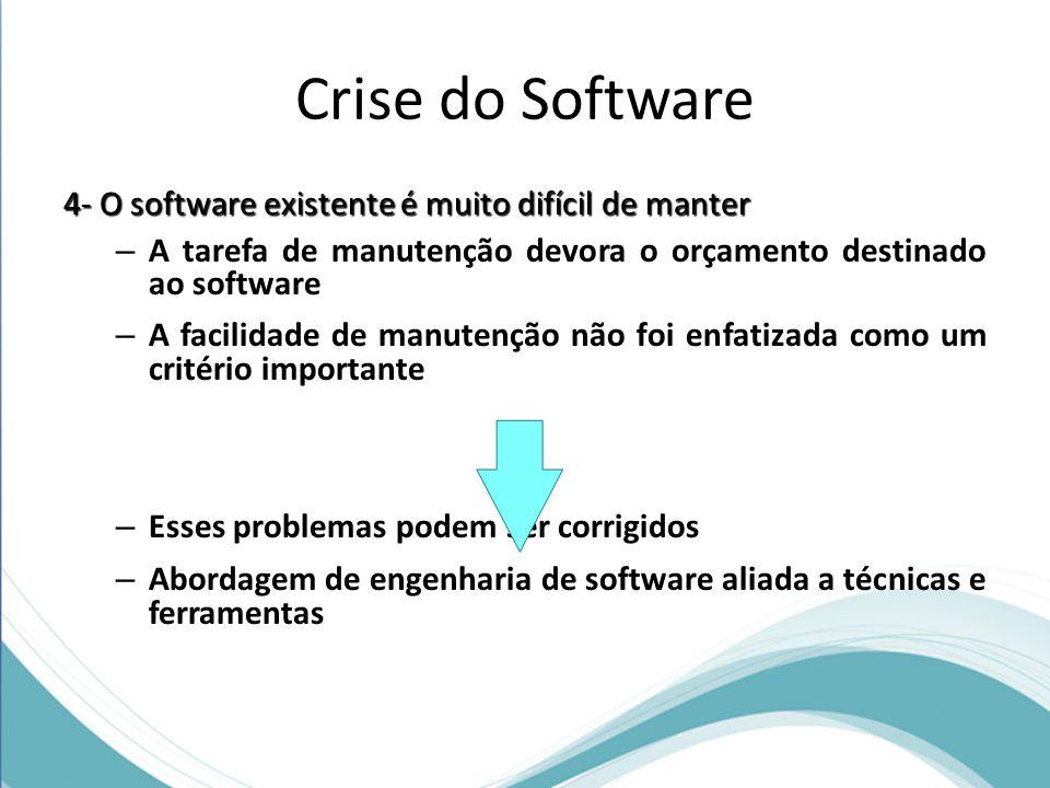 Crise do Software 4- O software existente é muito difícil de manter