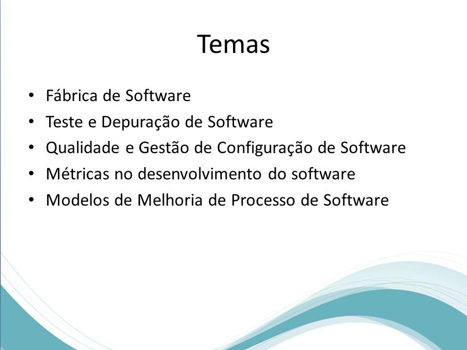 Temas Fábrica de Software Teste e Depuração de Software