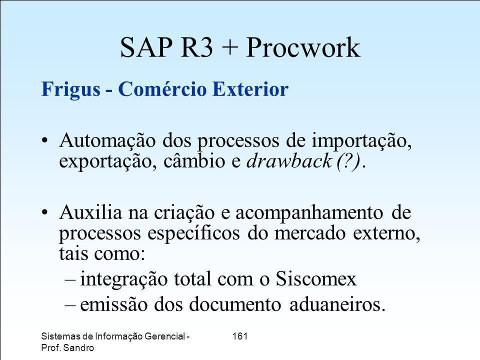 SAP R3 + Procwork Frigus - Comércio Exterior