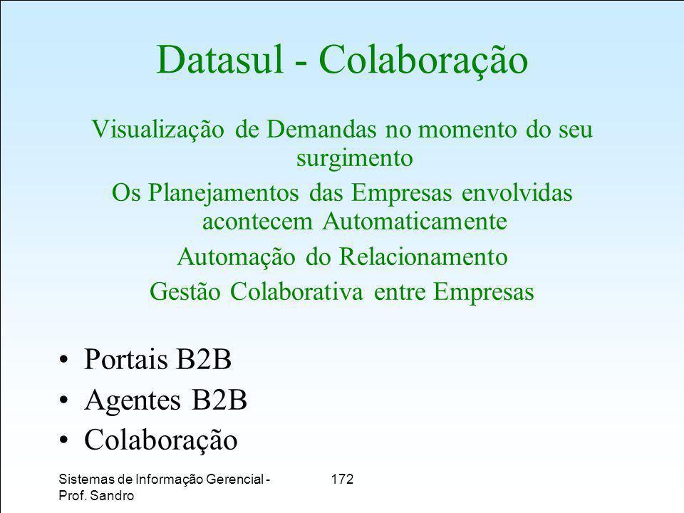 Datasul - Colaboração Portais B2B Agentes B2B Colaboração