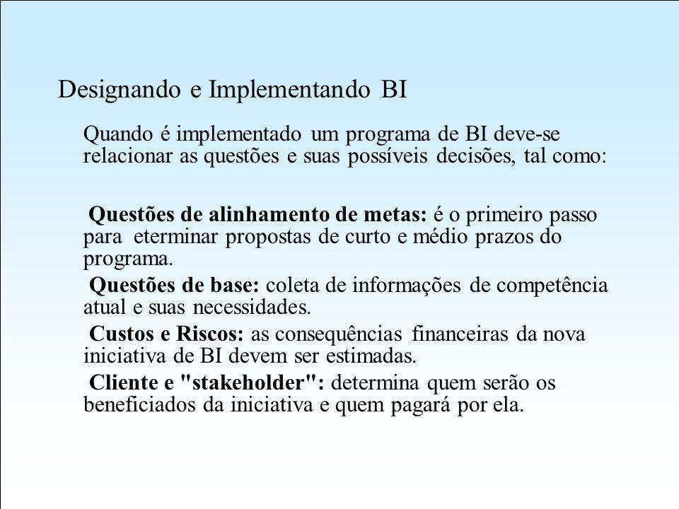 Designando e Implementando BI