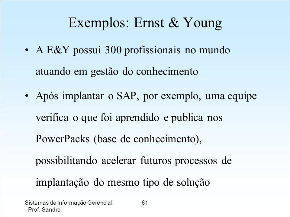 Exemplos: Ernst & Young
